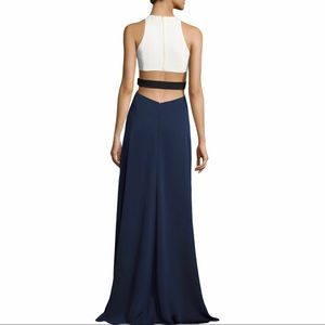 HALSTON Colorblock Very Sexy Evening Gown